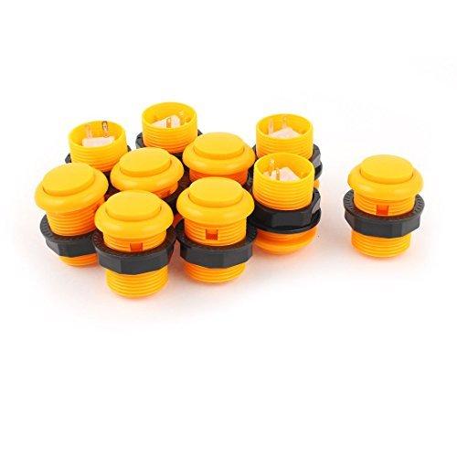 10pcs orange NO Typ SPST Taster für den Arcade-Spiel-Maschine -
