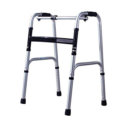 XIHAA Ältere Menschen Walker Höhenverstellbar Klapp Aluminiumlegierung Flaschenzug Behinderte Person Walking Rehabilitation Ausrüstung Bad Bad Stuhl (Ohne Rad) (4-rad Medical-rollator Drive)