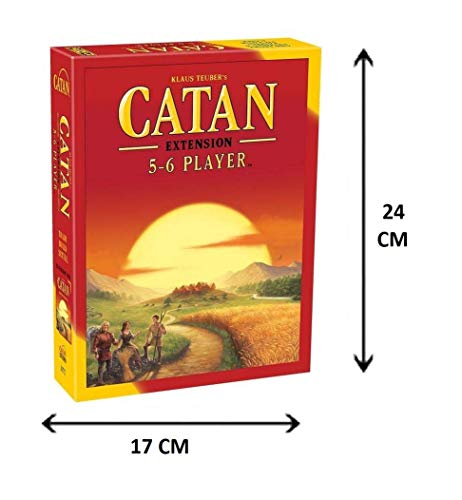Royals Hub® Catan Extension Game of 5-6 Players, Family and Friends Entertainment Board Game (Multicolor)