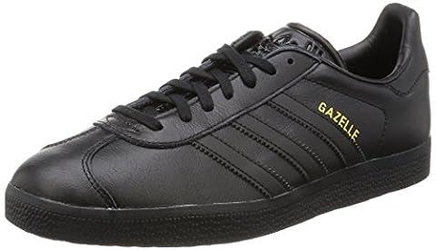 adidas Gazelle, Baskets Basses Homme, Noir (Core Black/Core Black/Gold Met,),