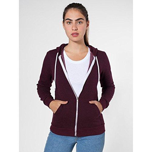 american-apparel-sweatshirt-a-capuche-et-fermeture-zippee-homme-s-cranberry-poivre