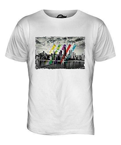 CandyMix Chicago Skyline Herren T Shirt Weiß