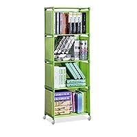 Bookcases Bookshelf Creative Modern Nonwoven Simple Bookshelf Floor Easy Moving DIY Home Decoration Dorm Shelf Bookcase Kids Book Storage Organizer bookshelf Bookcases