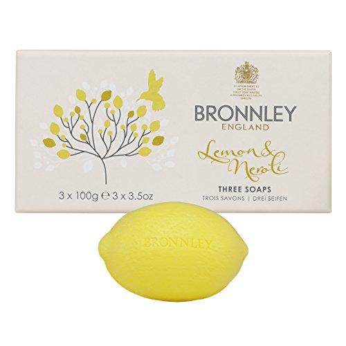 Bronnley Nuovo Citrus Lemon e Neroli sapone (3x100 g)