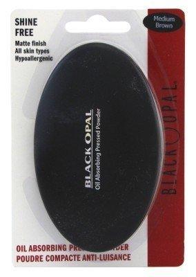 Black Opal Oil-Absorbing Pressed Powder Medium Brown -