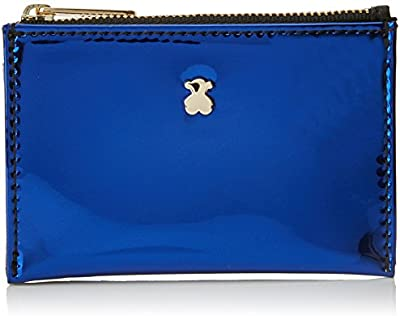 Tous Dorp 795970056, Monedero para Mujer, Varios Colores (Negro / Azul), 1x8x11.5 cm (W x H x L)