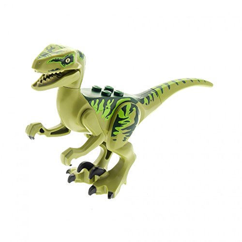 Preisvergleich Produktbild 1 x Lego System Tier Dino Raptor Charlie olive grün Jurassic World Dino Raptor Dinosaurier Set 75920 Raptor04