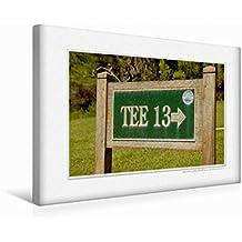 Premium Textil-Leinwand 45 cm x 30 cm quer Emotional Moment: Golf. | Wandbild, Bild auf Keilrahmen, Fertigbild auf echter Leinwand, Leinwanddruck (CALVENDO Orte)