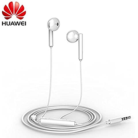 Auriculares, Manos Libres Earbuds Original Huawei AM115 para Huawei Ascend G6,G7,G8,P6,P7,P8,P8 Lite,Mate S, Blanco, Retail