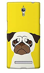 The Fappy Store Pug plastic Back Cover For Oppo Find 7