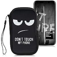 """kwmobile Funda Universal para móvil de L - 6,5"""" - Estuche de Neopreno con Cierre - Carcasa Don't Touch my Phone"""