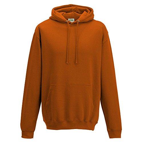 Just Hoods College Hoodie XXL,Burnt Orange (Hoody Orange Burnt Sweatshirt)