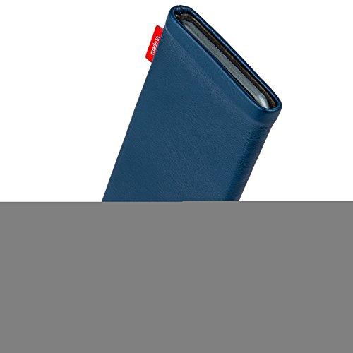 fitBAG Groove Pink Handytasche Tasche aus feinem Folienleder Echtleder mit Microfaserinnenfutter für Apple iPhone 6 Plus / iPhone 6S Plus 5,5 Zoll mit Apple Leather Case Beat Royalblau