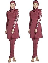 Ziyimaoyi Dezente muslimische Bademode für Frauen und Mädchen, Schwimmanzug (Hijab/Burkini)