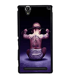 printtech Cool Kid Love Mommy Back Case Cover for Sony Xperia T2 Ultra , Sony Xperia T2 Ultra Dual