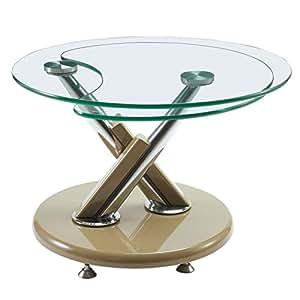 Table basse verre - TOURNY - L 70 x l 70 x H 49