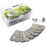 45 Cuchilla Cuchillo de repuesto para robot cortacésped Husqvarna y Gardena (0,75 mm), incluye tornillos, Premiumpreis®