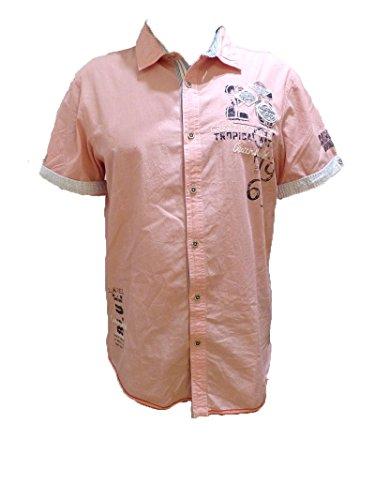Tropical Camp-shirt (Camp David Hemd Tropical Waters I Bright Coral Shirt 1/2 Regular FIT M L XL XXL XXXL (L))