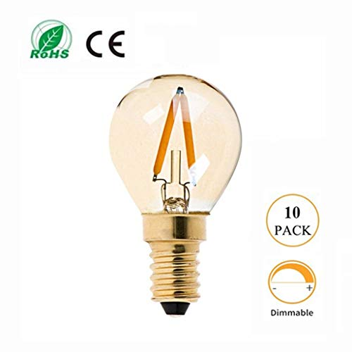 .m Bombilla LED de atenuación de faros, Brown retro G40 Fuente de Luz, titular E12 / E14 de la lámpara...