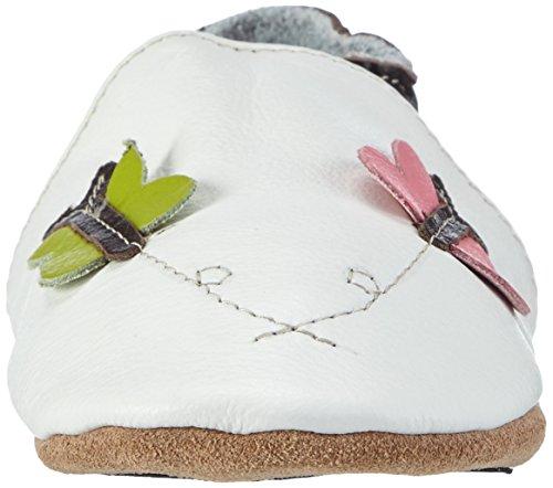 HOBEA-Germany Lauflernschuhe Schmetterlinge Weiß (Weiß)