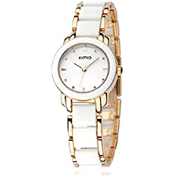 ufengke® rose gold nice stylish wrist watch for women ladies girls-gold white color