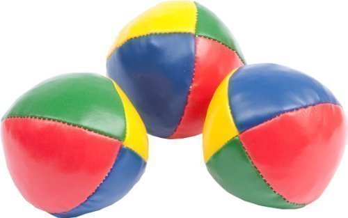 Weiche Jonglierbälle, rot/gelb/blau, 68mm, 90g, 3er Set
