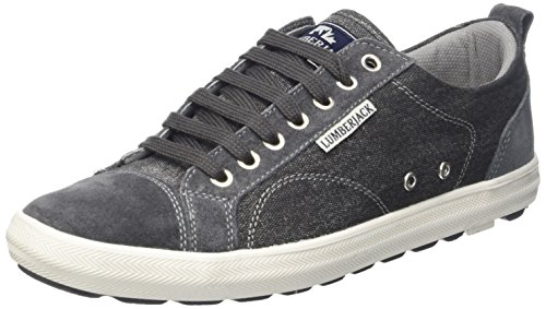 Lumberjack Wolf, Sneaker a Collo Basso Uomo, Grigio (Dk Grey), 45 EU