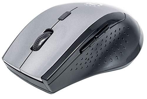 Manhattan 179379 Curve Wireless Maus USB (optisch fünf Tasten plus Mausrad 1600 dpi) anthrazit/schwarz Curve Trackball