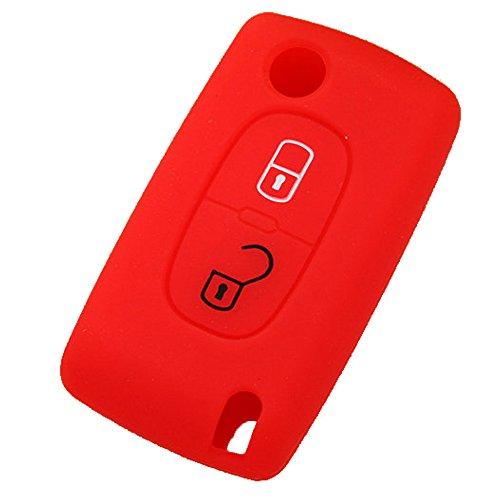 Rosso vendita® 1x Silicone Auto Caso chiave Shell per VW Seat Skoda 3tasti telecomando portachiavi