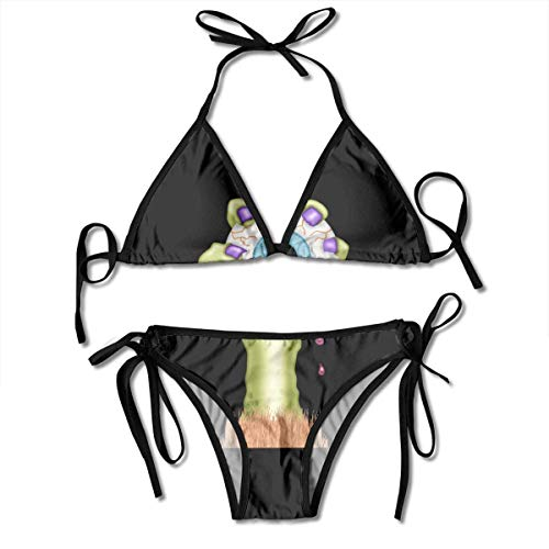 Sexy Triangle Bathing Two Pieces Halloween Eyeball Arms Eyes Scary Ladies Women Girl Summer Dress Beach Outfit Set Bikini Two-Piece Swimsuit