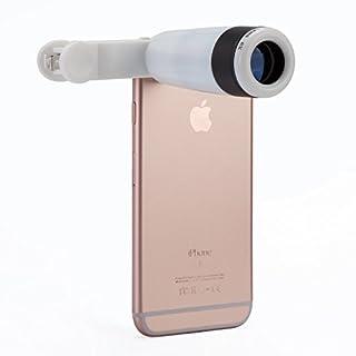 ANTFEES Universal 8 X Telefon Linse Teleskop Kamera Tele Zoomobjektiv mit Clip für Smartphones( weiß + schwarz )