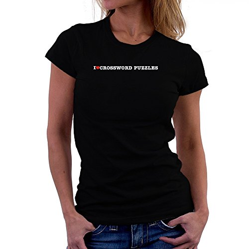 Teeburon I love Crossword Puzzles Camiseta Mujer