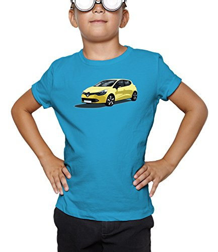 Billion Group | Yellow Cute | City Cars Collection | Boys Classic Crew Neck T-Shirt Blu Large