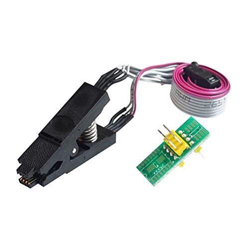 Preisvergleich Produktbild TOYANDONA SOIC8 SOP8 Test-Clip Universal Adapter Clip Fuß BIOS-BIOS breiter Körper 2, 4 m Brenn-Chip mit 1 Board