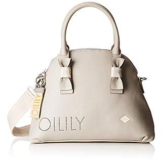 Oilily Damen Airy Handbag Mhz Henkeltasche, Grau (Light Grey), 13.0x24.0x32.5 cm