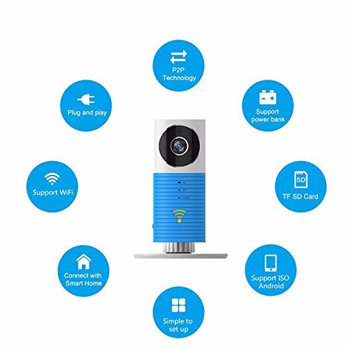 Baby Monitor drahtlose WiFi IP-Überwachungskamera Home Video Monitor Mini Control Tür Fensterkontakt für iPhone iPad & Android(z.B. Samsung HTC LG Sony Google Nexus) - 5