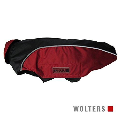 Wolters | Regenjacke Easy Rain in Schwarz/Rot | Rückenlänge 40 cm