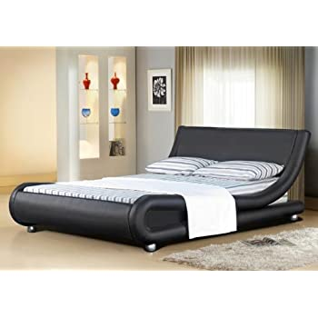 5FT Italian Designer Faux Leather King Size Mallorca Bed Frame in