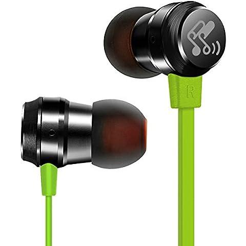 Soundpeats M20 3.5mm auricolari in-ear / auricolare / auricolari con microfono incorporato / Universal controllo 1-Button per iPhone 6 6Plus, 5S 5 4S, iPad 2 3 4 Nuovo iPad, iPod, Android, Samsung Galaxy, Smart Phones e Musica giocatori (verde)