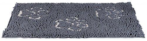 Trixie Alfombra Absorbe-Suciedad, Resiste Agua, 80 x 55 cm, Gris, 80 × 55 cm
