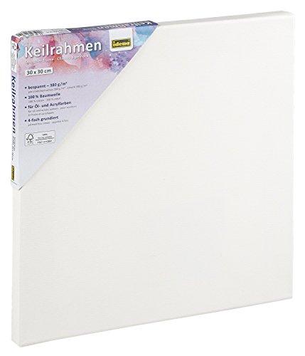 Idena 60031 - Keilrahmen für Öl und Acrylfarben, 30 x 30 cm