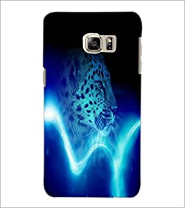 PrintDhaba Leopard D-4385 Back Case Cover for SAMSUNG GALAXY NOTE 5 EDGE (Multi-Coloured)