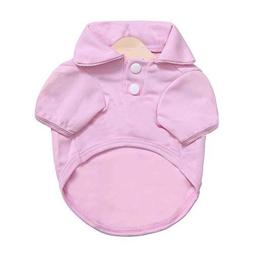 Stale Hund Kleidung Für Kleine Hunde Weste Katze Haustier T-Shirt Hündchen Kostüm Günstige Kleidung Für Hunde Chihuahua Pink M