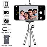 Everycom Mini Tripod with Mount Compatible with All Mobile Phones and Digital Camera - Silver