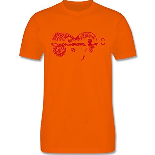 Valentinstag - Schlüssel zum Herzen - Herren Premium T-Shirt Orange