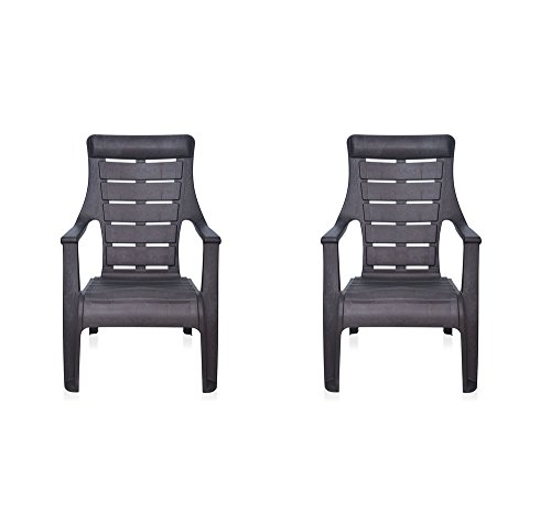 Nilkamal Sunday Garden Chair, Set of 2 (Weather Brown)