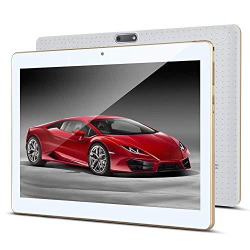 Android 8.1 tablet 10 inch 1920 x 1200 Full HD IPS touchscreen, dual camera 3 MP en 8 MP, 4GB RAM 64GB geheugen, Octa Core CPU, WiFi/WLAN/Bluetooth/GPS TYD-107(weiß)