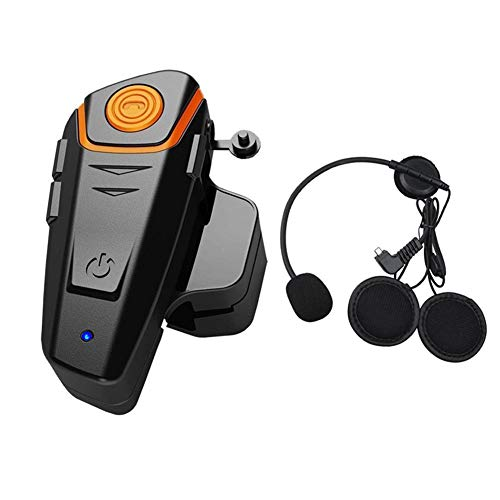 BT-S2 1000M Bluetooth Headset Motorcycle Intercom Motorcycle Helmet Intercom Interphone Bluetootth Headset Great for Riding/Skiing (Up to 2 or 3 Riders,1 Pack) -