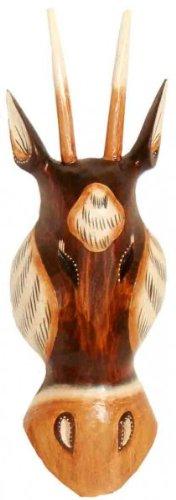 Maske Antilope 30 cm, Holz-Maske aus Bali, Wandmaske