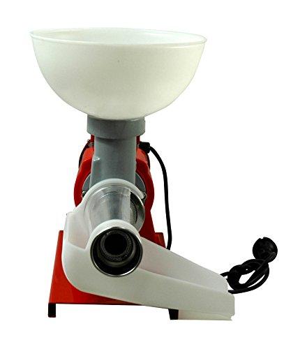 Motorgeräte Fischer Fischer Kellereitechnik: Elektrische Tomaten-Passier-Maschine/Beerenmühle für intensiven Gebrauch mit Edelstahlsieb